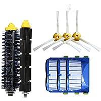 LanLan Accesorios de aspiradora, Kit de Filtro de Cepillo de Repuesto para iRobot Roomba Aerovac 600 Series 620 630 650