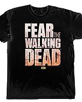Fear the Walking Dead Logo T-Shirt zur Horror Serie Baumwolle schwarz