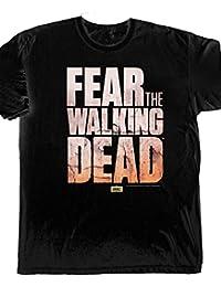 T-shirt logo Fear the Walking Dead sur la série d'horreur coton noir