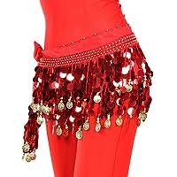 WUDAOFU Cinturón(Negro / Rosa / Rojo,Gasa,Danza del Vientre / Sala