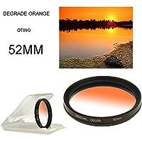 Oting 52MM Filtre Photo Dégradé Orange Professionnel