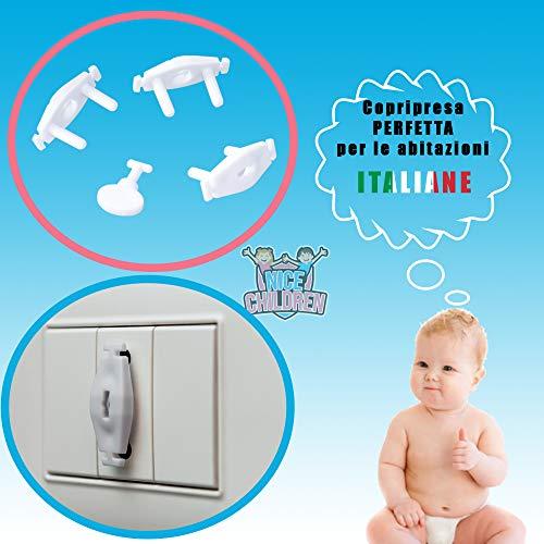 Protector de esquinas y esquinas Cierres de seguridad CRISCIN Tope de puerta Bianco Kit de protecci/ón infantil