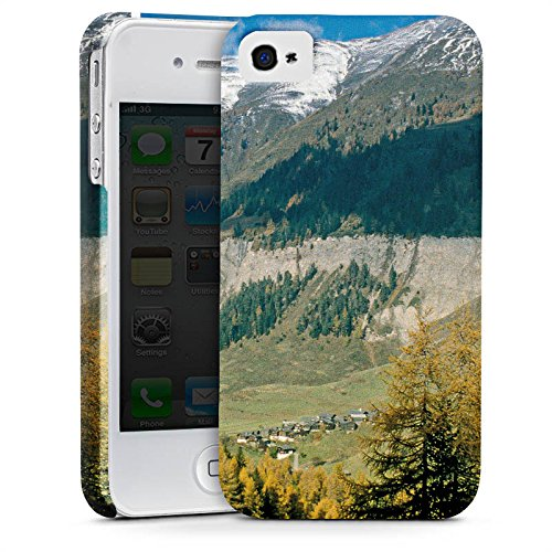 Apple iPhone X Silikon Hülle Case Schutzhülle Gebirge Huegel Landschaft Premium Case glänzend
