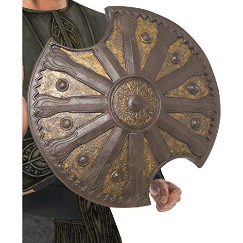 NET TOYS Achilles Schild Römerschild Bronze Griechisches Schild Kostüm Accessoires Soldaten Zubehör