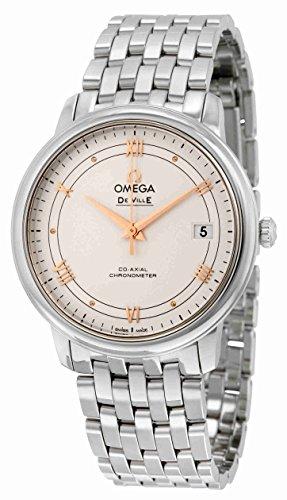De Ville Omega Prestige in acciaio inossidabile argento-424,10.37,20.02,002 Orologio da uomo