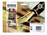 Epson original - Epson WorkForce WF-2630 WF (16 / C13T16264020) - Tintenpatrone MultiPack (schwarz, cyan, magenta, gelb)