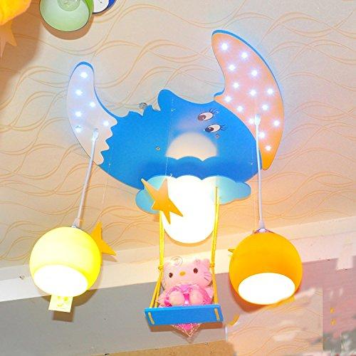 Doppel-Saug-Hängelampe Kinderzimmer Kronleuchter Kinderwagen Cartoon Jungen und Mädchen mit Schlafzimmer Deckenbeleuchtung - 4