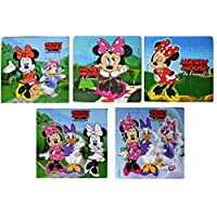 Myesha Toys Mini Mickey Mouse & Friends Zigsaw puzzle, Pack of 5, Total 45 Pieces
