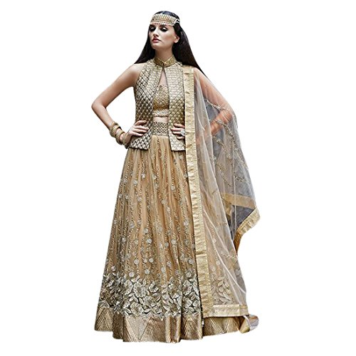 Anarkali ( Shoponbit Heavy Designer Gold Semi-Stitched Anarkali Suit )