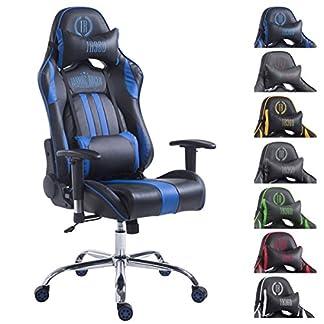 CLP Silla de oficina Racing LIMIT XL de cuero sintético, silla gaming, tapizado de cuero sintético. peso máximo: 150kg