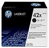 HP 42X - Cartucho de tóner original LaserJet de alta capacidad para Laserjet 4250 y 4350, color negro