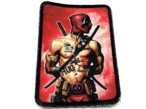 Deadpool Parodie Art Cosplay Sublimated Fan Patch, Thug Life, 50mm x 75mm