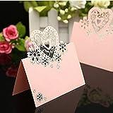 Pixnor Liebe Namen Herzen Etikett Sitz Tisch Karte für Hochzeiten–50(Rosa) - 2