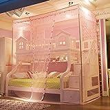 DexterityKing mosquitero Las mosquiteras de cama cucheta escalera Gabinete mosquiteros mosquiteros de cama doble armario pie escalera verde, armarios, cama de 1,2 metros