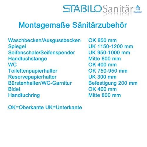 Stabilo-Sanitaer Edelstahl Ausgussbecken Fassungsvolumen 14L satinierte Oberfläche mit Spritzschutz Abflussbecken Garten Keller Waschtrog Spülbecken -