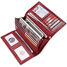 4438818bd Carteras Mujer Piel Monederos de Mujer RFID Bloqueador Billeteras Larga Cartera  para Mujer con Gran Capacidad
