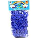 Loom Bandz - Rainbow Colours - Dark Blue 600 Count With Clips