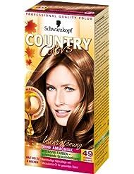 Schwarzkopf Country Colors Intensivtönung, 49 Cognac Haselnuss, 3er Pack (3 x 123 ml)