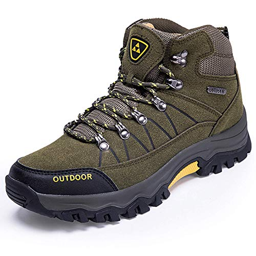 LSYSAG Men Ankle Hiking Boots, Breathable Trekking Shoes, Non-Slip Winter Snow Boots for All Season Walking, Travelling, Backpacking, Working, Camping, Trekking, Biking