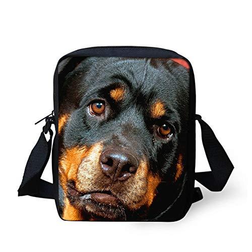 Wolf Small Sling Schultertasche Handtasche Mini Crossbody Taschen Handytasche Geldbörse (Color : Rottweiler, Size : -) (Rottweiler Geldbörse)