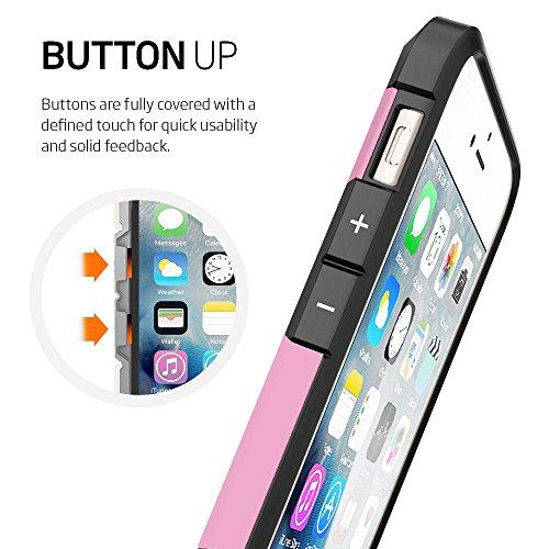 iPhone 6Fall und iPhone 6Plus Schutzhülle, ezzymob® Heavy Duty, Ultra Slim Hybrid Armor Hülle, stoßfest TPU Gummi und Polycarbonat für Apple iPhone 6/6S und Apple iPhone 6Plus. iPhone 6 (4.7-inches) Pink