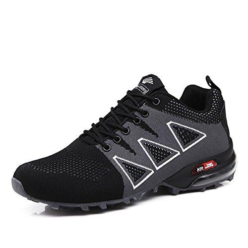 LILY999 Uomo Scarpe da Trekking Leggere Scarpe da Escursionismo Arrampicata All'aperto Sneakers Scarpe da Corsa(Nero,43 EU)