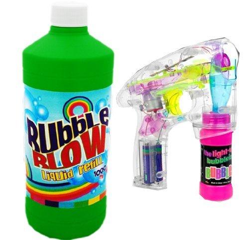 Nerd Clear N&C® Led Seifenblasen Pistole + 1 Liter Flüssigkeit