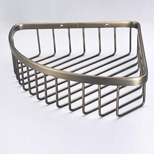 KIEYY Die Badewanne voll Kupfer grün Alte dreieckige Warenkorb wc Single Layer hohe Kapazität integrierte Regal Ecke rack Badezimmer Korb