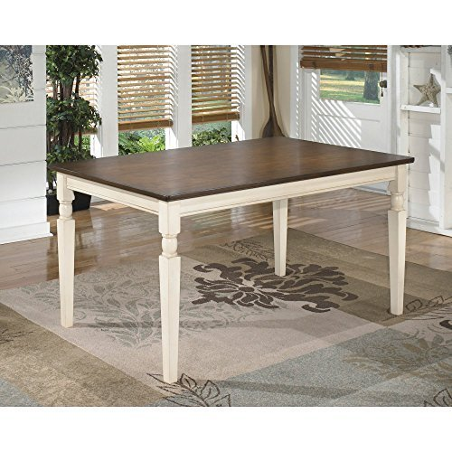 Ton-finish (Whitesburg Collection Cottage Style Two Tone Finish Rectangular Dining Table by ivgStores Furniture)