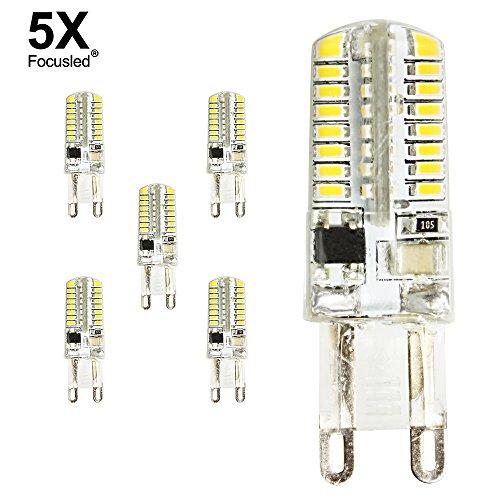 Focusled® 5er-Pack G9 LED super helle Licht 3W Innenbeleuchtung 220V LED Leuchtmittel Warmwiess 290-320 LUMEN