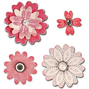 Sizzix  18658053 Big Shot Fleur Layers Cœur Bigz Matrice de Découpe pour Machine Plastique Multicolore 14 x 2 x 17,5 cm
