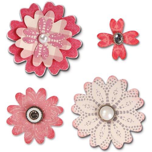 Sizzix Bigz Stanze Flower Layers Heart Petals von Eileen Hull, Mehrfarbig (Stanze Blütenblätter)