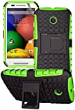 Motorola Moto E 2nd Gen - Premium Quality Shockproof Defender Plastic Hard Back Case + Free Screen Protector
