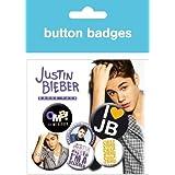 JUSTIN BIEBER badge pack 4 x 25mm 2x38MM