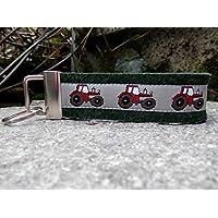 Schlüsselanhänger Schlüsselband Mitbringsel dunkelgrün Traktor rot schwarz Geschenk!