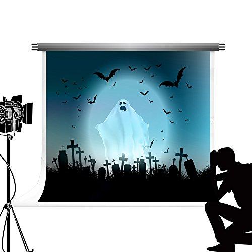 Kate Halloween Kinder Hintergrund Ghost Friedhof fototermin Hintergrund für Kinder Party Studio Fond Fotografie 7 x 5ft/2.2x1.5m