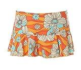 Lisca Damen Strandrock Rock Beachwear Blumen Orange M