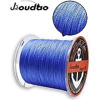 JIOUDAO - Sedal de pesca de alto rendimiento, resistente, superlínea, 300 m, 4 y 8 hebras de polietileno, azul, 80lbs-0.4mm-36.3kg