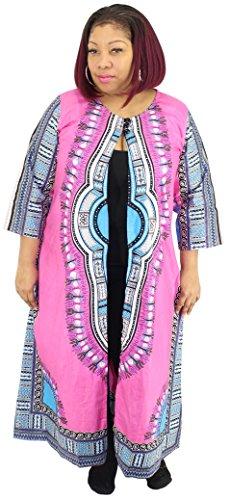 African Planet Damen Dashiki Robe Duster Umhang Partykleid - - (Dashiki Kostüm)