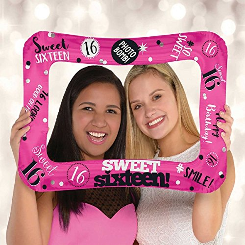 (Amscan International 110350–01Sweet Sixteen Selfie Rahmen Folienballon)