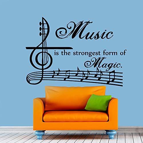 ste form von magic wandtattoos vinyl kunst aufkleber abnehmbare musiknoten wohnkultur 80 cm x 58 cm l ()