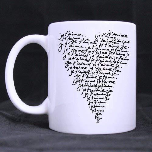 Smbada Taza de café (Blanco) 11 oz Regalos sin patrón atrapasueños Rosas Hojas Plumas Colorido Dibujado a Mano Concepto de diseño de Estilo Boho Semitono