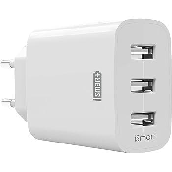 USB Ladegerät RAVPower 3-Port 30W 6A Ladeadapter mit iSmart Technologie für iPhone X/8/8 Plus, Galaxy S9/S9 Plus/S8/S8 Plus/Note, iPad, Sony, HTC, Motorola, LG und Weitere, Weiß