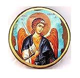 Handgefertigt aus Holz Griechisch Christian-orthodoxen Holz Icon von Erzengel Michael/ST2