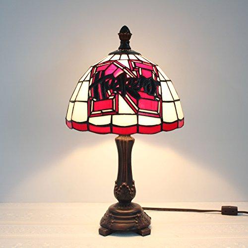 9-Zoll-Nebraska Cornhuskers Glasmalerei Tischlampe