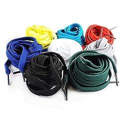 Ganzoo Schnür-Senkel flach, 120 cm, Senkel, Schuh-Bändel für Arbeitsschuhe, Sneaker, Wander-Stiefel (8 Paar, gemischt)