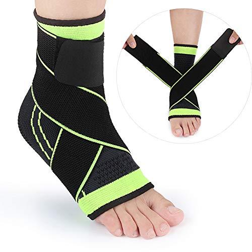 Verstellbare Fußgelenkstütze - atmungsaktives Nylonmaterial super elastisch und bequem - geeignet für Sport, zur Verhinderung von chronischen Knöchelverformungen, Verstauchungen usw.