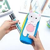 zqasales Nette Marionette Katze Kreative Cartoon Leinwand Bleistift Taschen Große Kapazität Reißverschluss Schreibwaren Bleistift Box