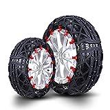 Neumáticos de Cadena de Nieve para automóviles Cadena de Nieve para automóviles Vehículo Todo Terreno Cadenas para Nieve con neumáticos para automóviles SUV Fácil de Instalar (Tamaño : 225/40R18)