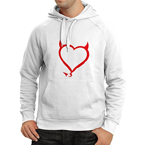 N4013H Hoodie Devil heart Funny Gift Colors/Sizes Bianco Red
